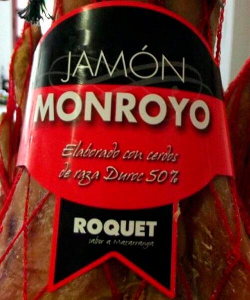 "JAMÓN MONROYO 7.5-8KG ""ROQUET"" 02"
