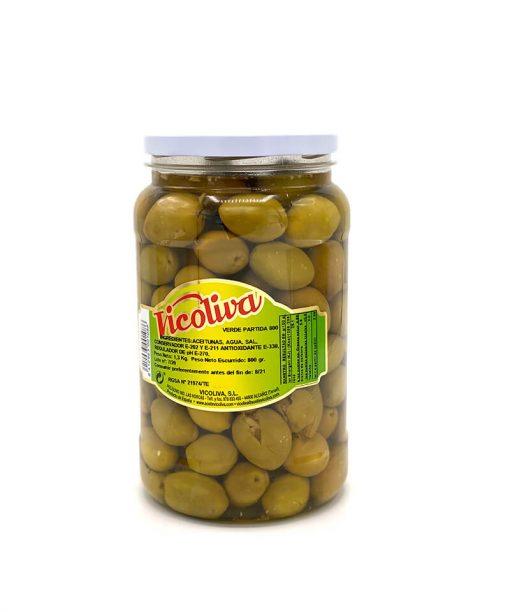 ACEITUNA VERDE PARTIDA (800 g) Vicoliva