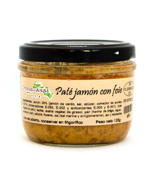 PATÉ DE JAMÓN Y FOIE (125 g) Croquellanas