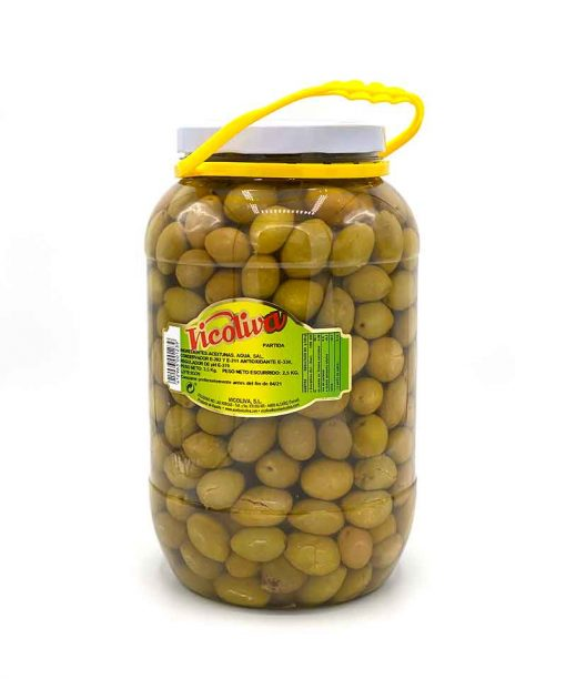 ACEITUNA VERDE PARTIDA (2,5 kg) Vicoliva