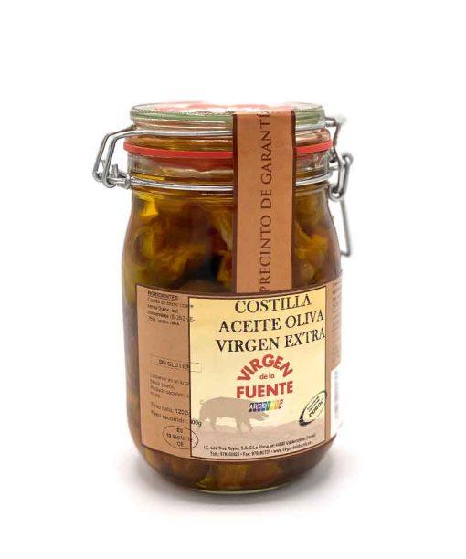 COSTILLA EN ACEITE DE OLIVA VIRGEN EXTRA (1,2 kg) Soincar
